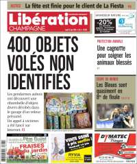 Portada de Libération Champagne (Francia)