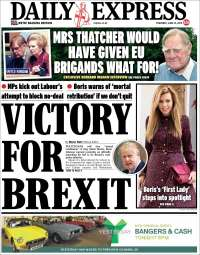 Portada de Daily Express (Reino Unido)