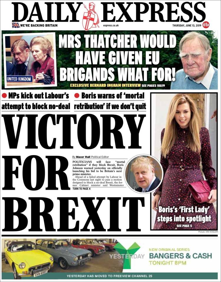 Portada de Daily Express (Reino Unido)