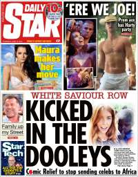 Portada de Daily Star (Reino Unido)