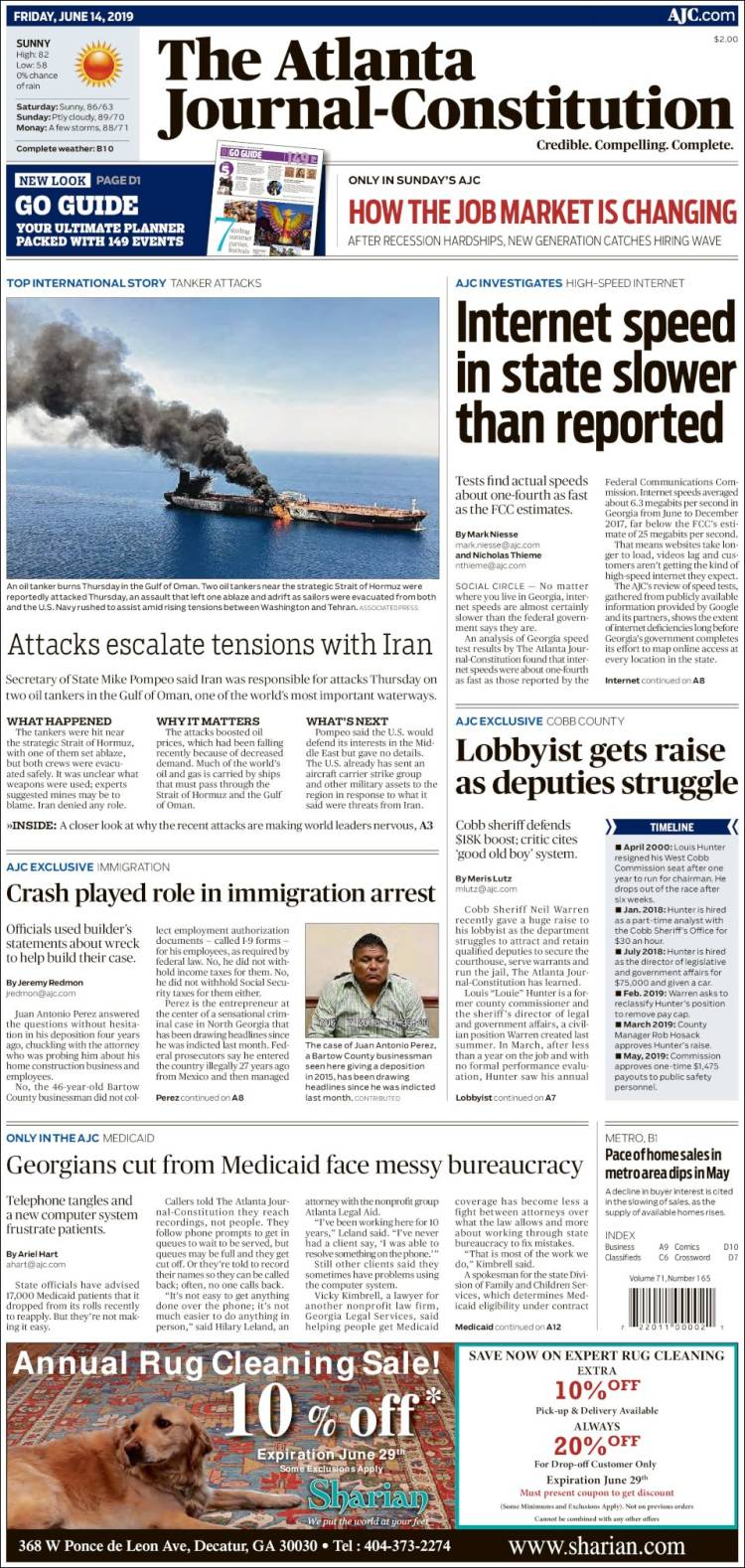 Periódico The Atlanta Journal-Constitution (USA)  Periódicos