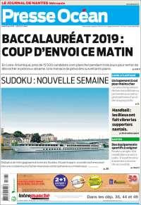 Portada de Presse Ocean (Francia)