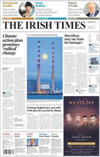 Portada de Irish Times (Irlanda)