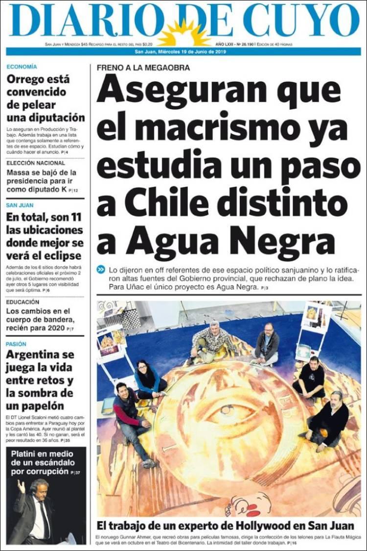 Portada de Diario de Cuyo (Argentine)