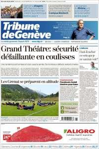 Portada de La Tribune de Genève (Switzerland)