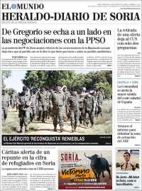 Portada de Diario de Soria (España)