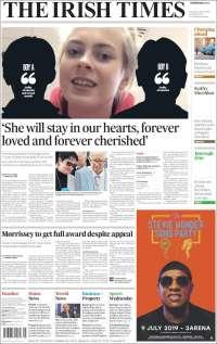 Portada de Irish Times (Irlande)
