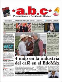 Portada de A.B.C.  (Mexique)