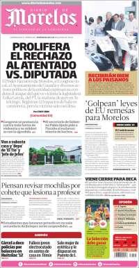 Portada de Diario de Morelos (Mexico)