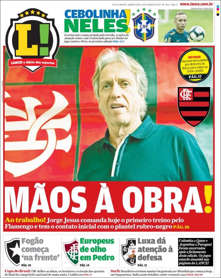 prima pagina lance brasile