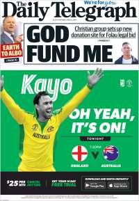 Portada de The Daily Telegraph (Australie)