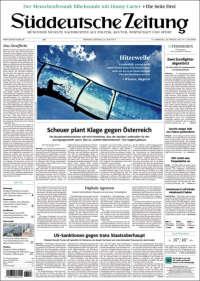Portada de Sueddeutsche (Allemagne)