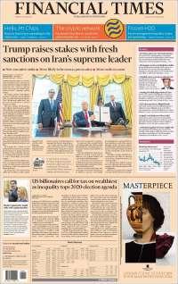 Portada de Financial Times - USA (États-Unis)