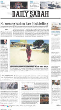 Portada de Daily Sabah (Turquía)