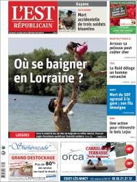 Portada de L'Est Republicain (France)