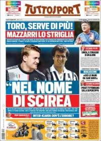 Portada de Tuttosport (Italie)