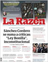 Portada de La Razón (Mexique)