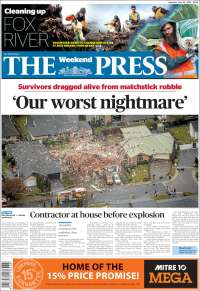 Portada de The Press (New Zealand)