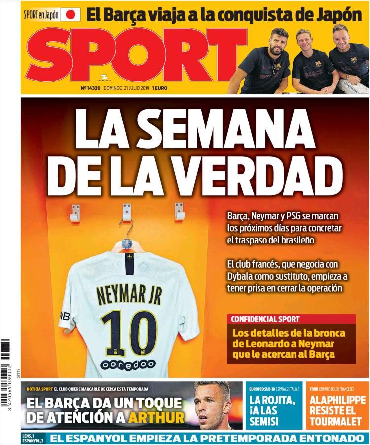 Portada de Sport (España)