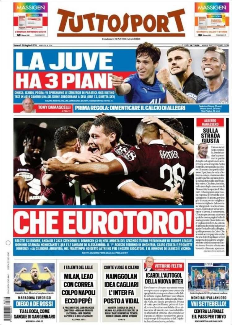 Portada de Tuttosport (Italia)