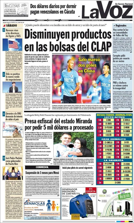 Portadas de la prensa de hoy en Venezuela Ve_diario_voz.750