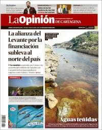 Portada de La Opinión de Murcia (España)