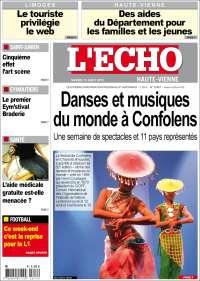 Portada de L'Echo de la Haute-Vienne (Francia)