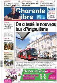 Portada de Charente Libre (Francia)