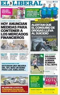 Portada de Diario El Liberal (Argentine)