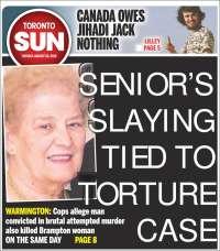 Portada de The Toronto Sun (Canadá)