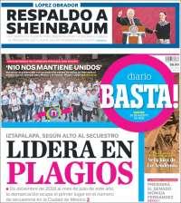 Portada de Diario Basta (Mexique)