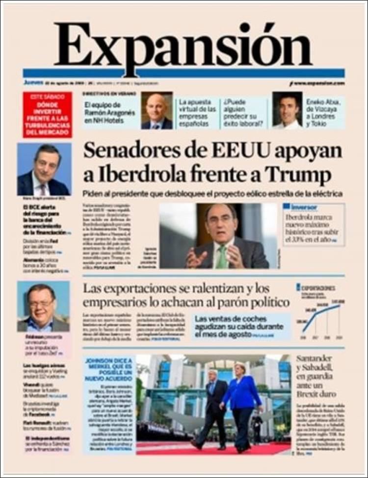 Portada de Expansión (Spain)