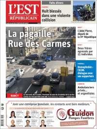 Portada de L'Est Republicain (Francia)