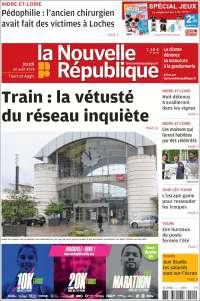 Portada de La Nouvelle Republique (Francia)