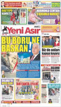 Portada de Yeni Asır (Turquía)