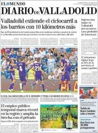Portada de Diario de Valladolid (España)