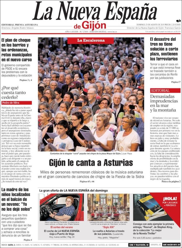 Portada de La Nueva España - Gijón (España)