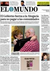 Portada de El Mundo (España)