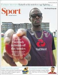 Portada de Telegraph Sport (Reino Unido)