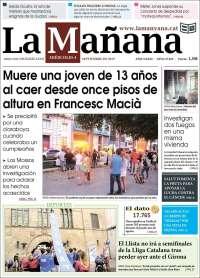 Portada de La Mañana - Diari de Ponent (España)