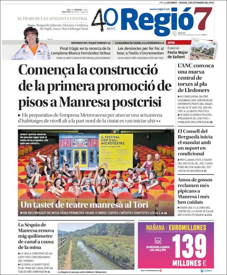 Portada de Regio7 (España)