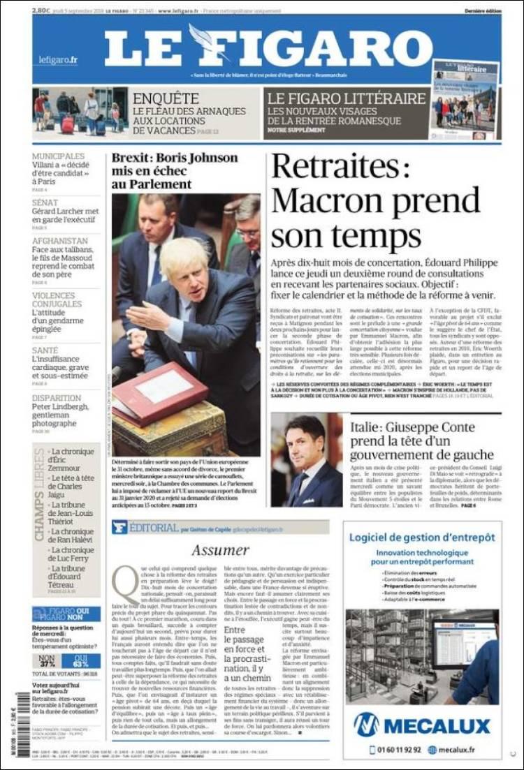 Portada de Le Figaro (Francia)