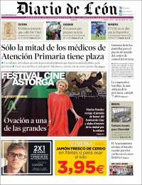 Portada de Diario de León (España)