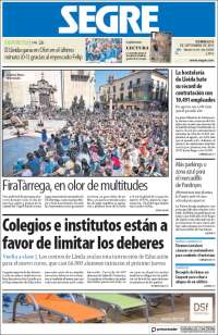 Portada de Segre  (España)