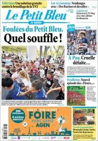 Portada de Le Petit Bleu (Francia)