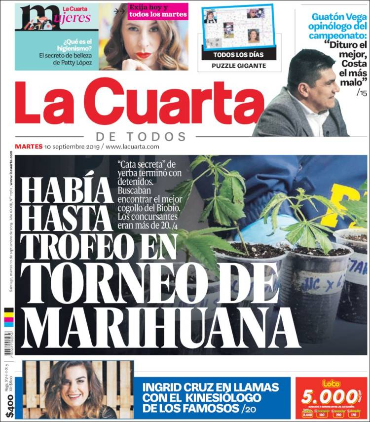 Newspaper La Cuarta (Chile). Newspapers in Chile. Today\'s ...