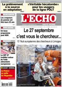Portada de L'Echo de la Haute-Vienne (France)