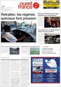 Portada de Ouest France (France)