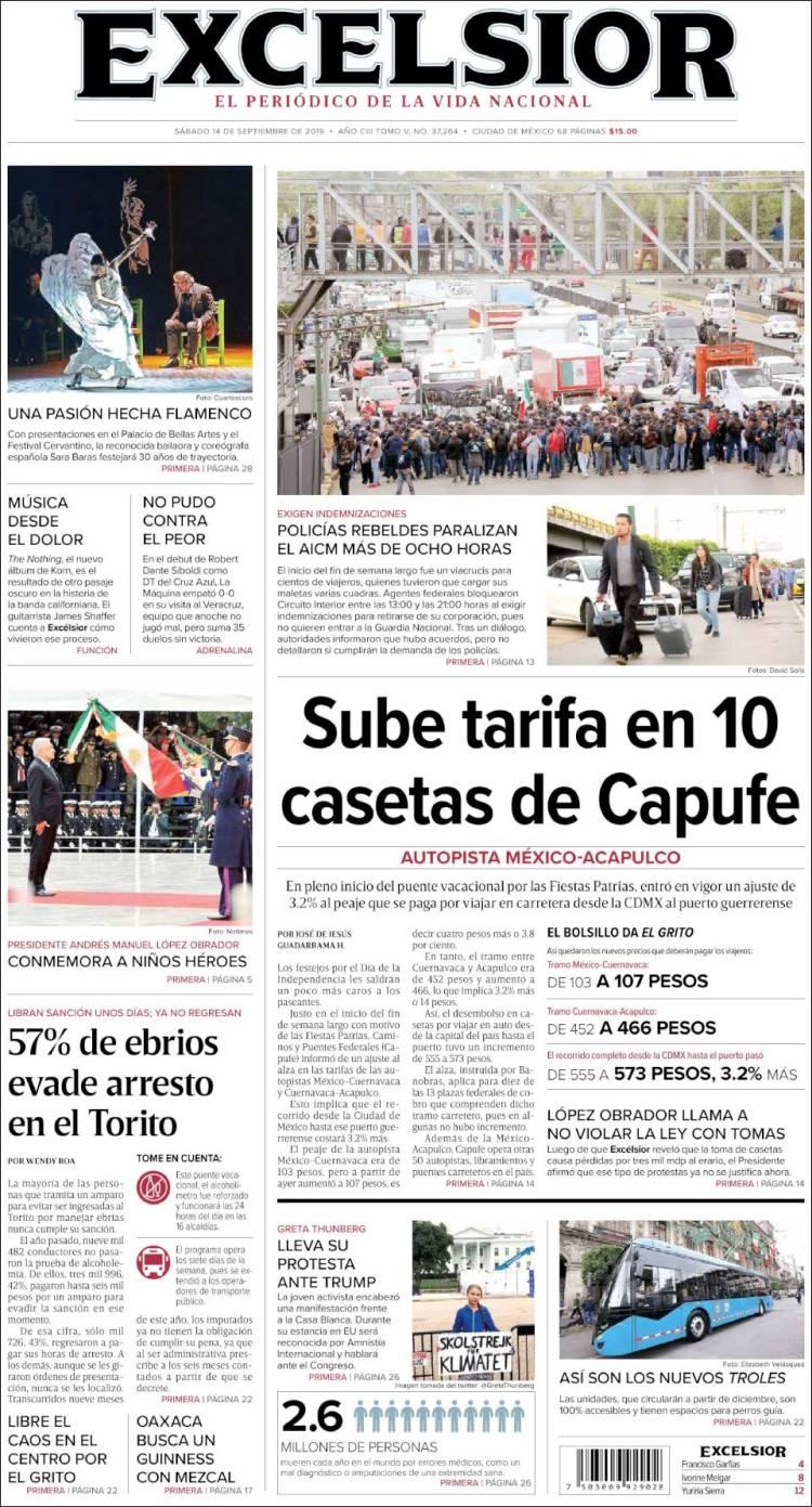 Periódico Excelsior (México). Periódicos de México. Edición