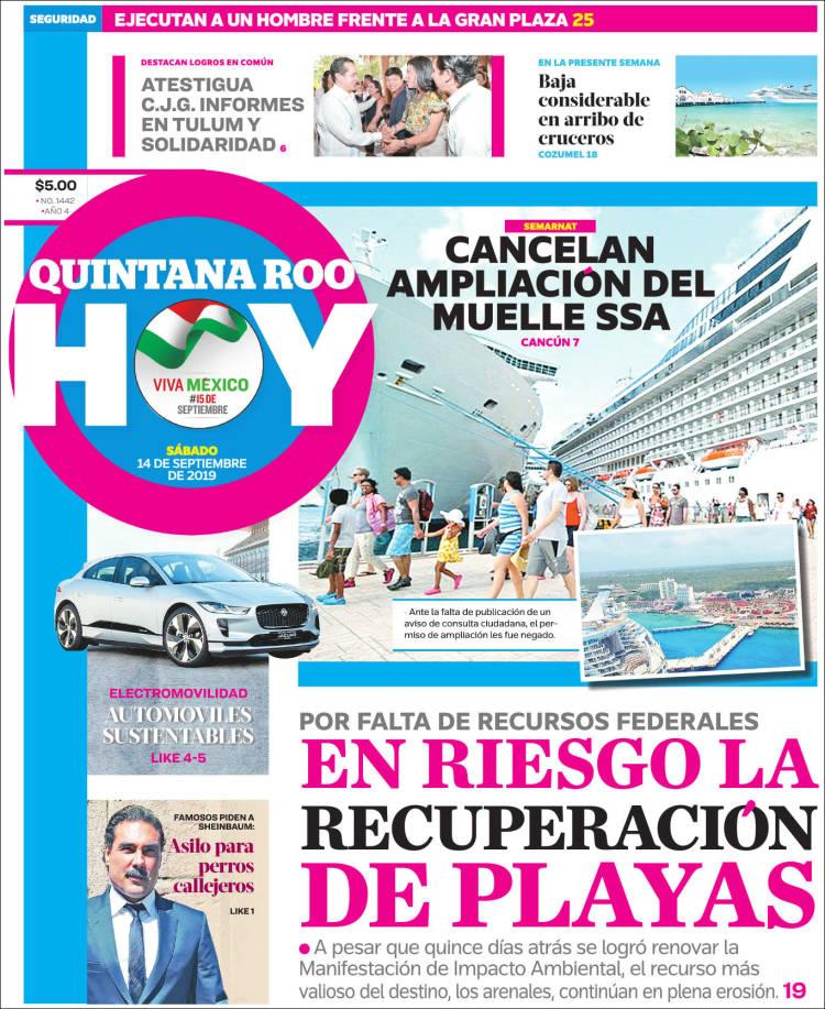 Portada de Quintana Roo HOY (México)
